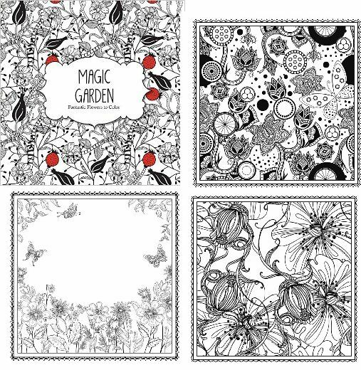 Coloring Book Stress Relieving Mandalas And Garden Patterns For Adults Flowers