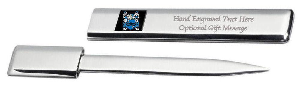 Macmahon Famille  Blason Heraldic Engraved Ouvre-Lettre