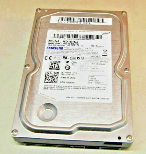 2 Samsung 7200RPM 160 GB SATA Hard Drives