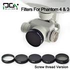MC UV/ND4/ND8/ND16/CPL filter Lens Screw Version & Lens Cap for DJI phantom 4/3
