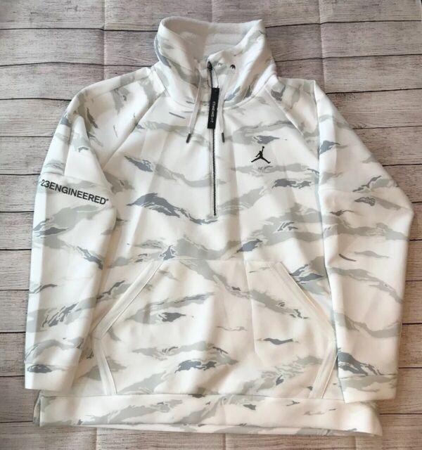 White Nike Jordan Sportswear Flight Tech Camo Anorak Cheap