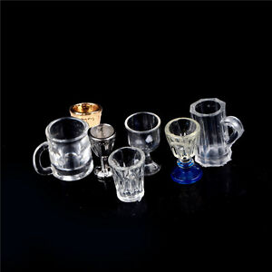 Hot-1-12-Dollhouse-Miniature-Kitchen-Glass-Beer-Wine-Cup-Drink-Bottles-Decor-MD