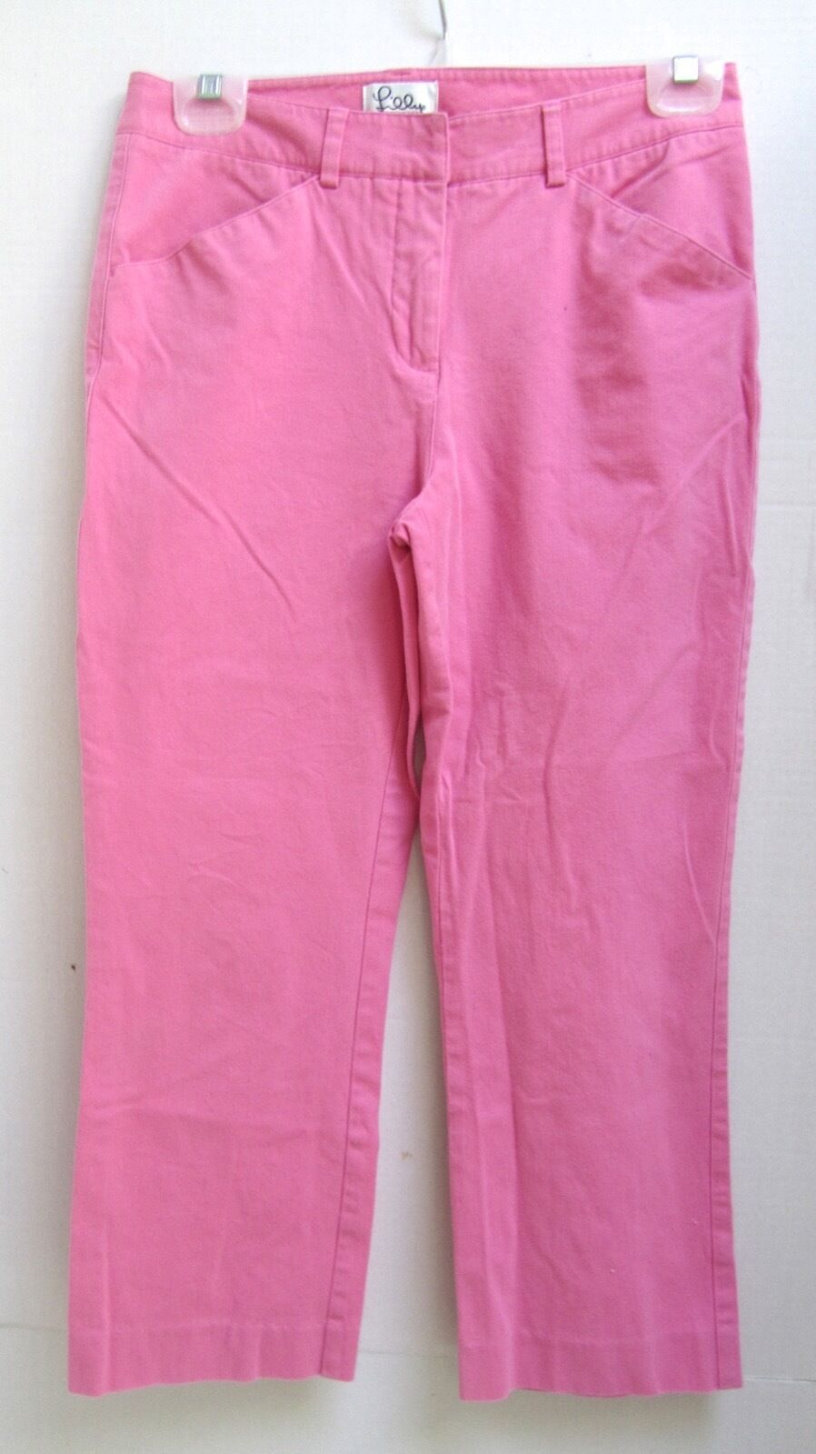 Lilly Pulitzer Pink Cotton Spandex Stretch Jeans Pants 2P 2 P EXC