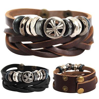 Echt Lederarmband-serie11-lam11 Unisex ! Bracelet Leather Armband Herren Aromatischer Geschmack