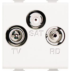 Bticino N4210D LIGHT PRESA TV//RD//SAT DERIVATA