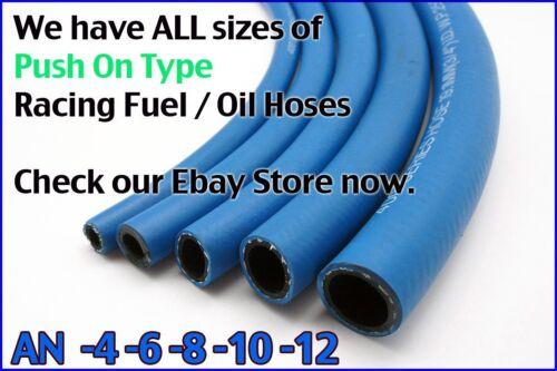 "Autobahn88 Push On Hose AN-8 AN8 NBR Fuel Line Oil Gas 1M 3FT 0.47/"" ID"
