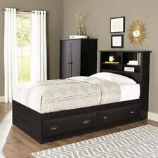 Item 6 Twin Headboard Wood Storage Bookshelf Cubbyhole Espresso Bedroom Bed Access