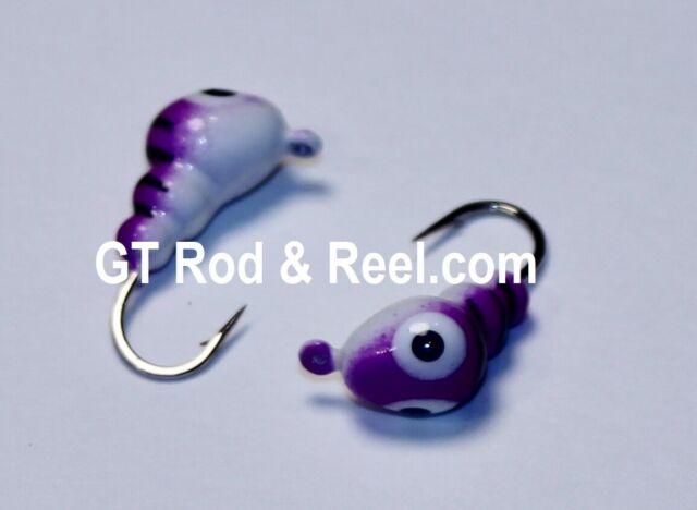 Free Ship 4ea #513 Tear Drop 1.1 Grams 4.0mm Glass Eye Glowing Multi-Color