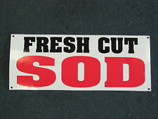 FRESH CUT SOD Banner Sign NEW Larger Size for Nursery Lawn and Garden Center