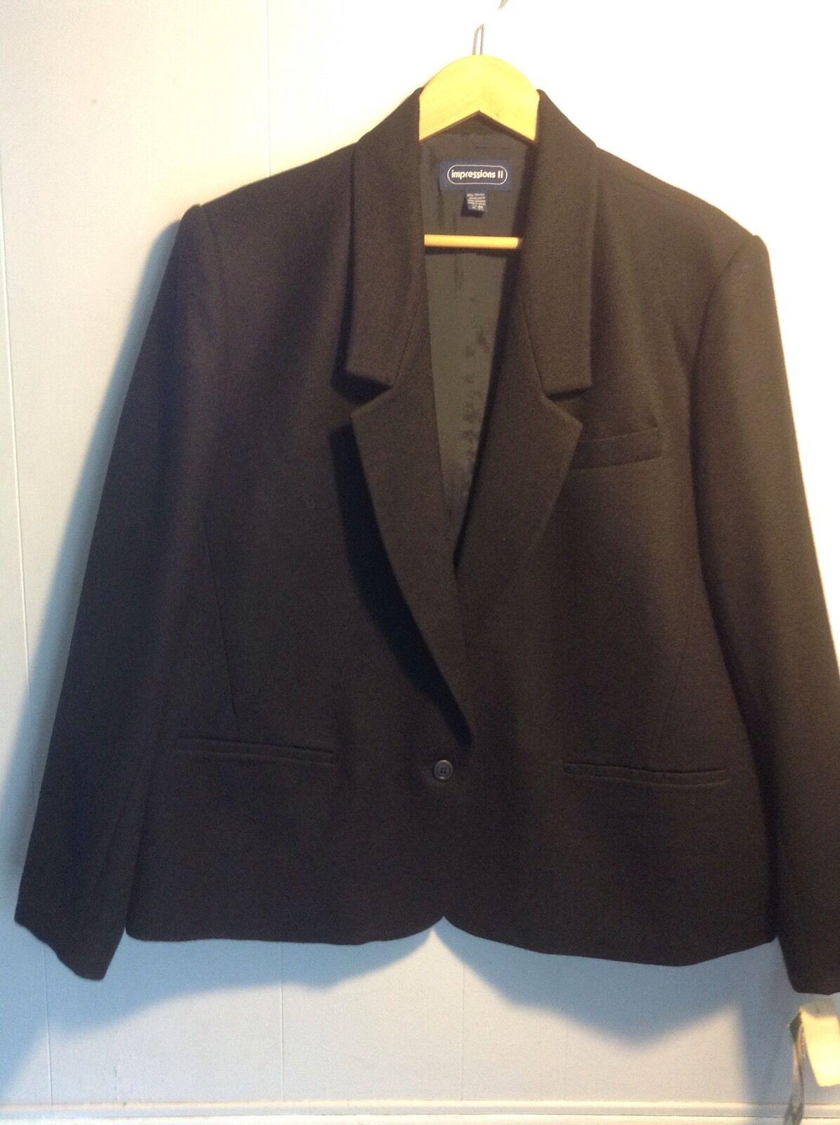 Women's Vintage Nwt Impressions II Wool Blazer Coat Japan Made