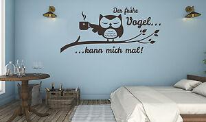Wandtattoo Schlafzimmer Büro Eule Wandtatoo Der frühe Vogel kann ...