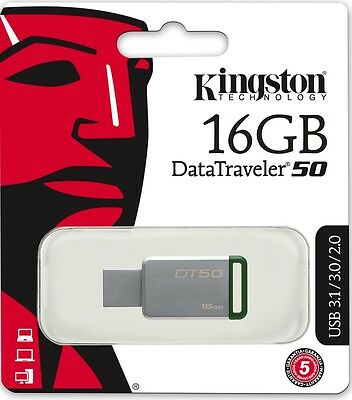 Kingston 32GB USB DataTraveler 50 32G USB 3.1 Flash Pen Drive DT50//32GB Retail