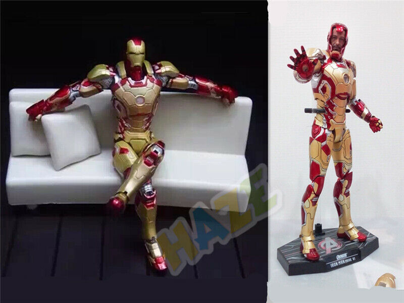 IRON MAN Diecast Mark 42 con luce LED 1  6 Action-Collection