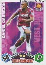 DANIEL GABBIDON # WALES WEST HAM CARD PREMIER LEAGUE 2010 TOPPS