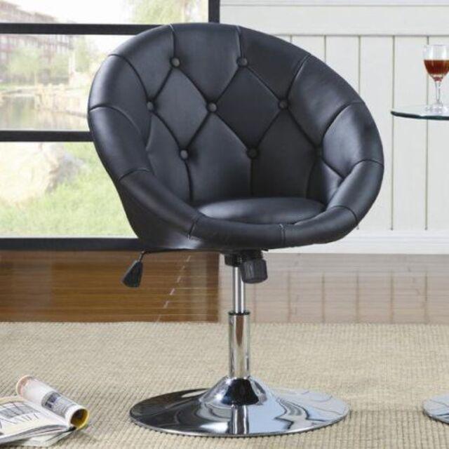 Black Vanity Stool Swivel Chair Seat Bedroom Furniture Living Room  Adjustable
