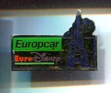 RARE PINS PIN'S .. DISNEY PARIS OPENING 1992 EUROPCAR LOCATION AUTO CAR ~17