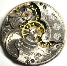 1904 ELGIN ART DECO POCKET WATCH MOVEMENT FOR PARTS/REPAIRS #W70