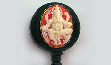 GANESH Retractable Reel ID Badge Holder/Key Chain Ring/ Hindu God Ganesha 3D