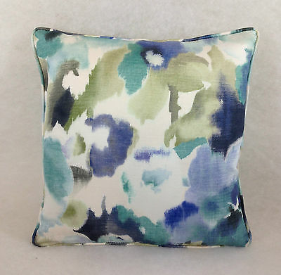 "Sanderson Varese In Cobalt Self Piped Cushions Multi Listing 16""x16"" & 16""x12"""