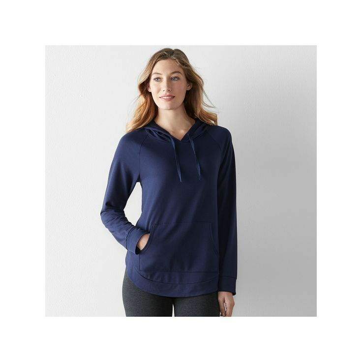 NEW Women/'s Sonoma Goods for Life The Everyday Lounge Sweatshirt Navy M L XL XXL