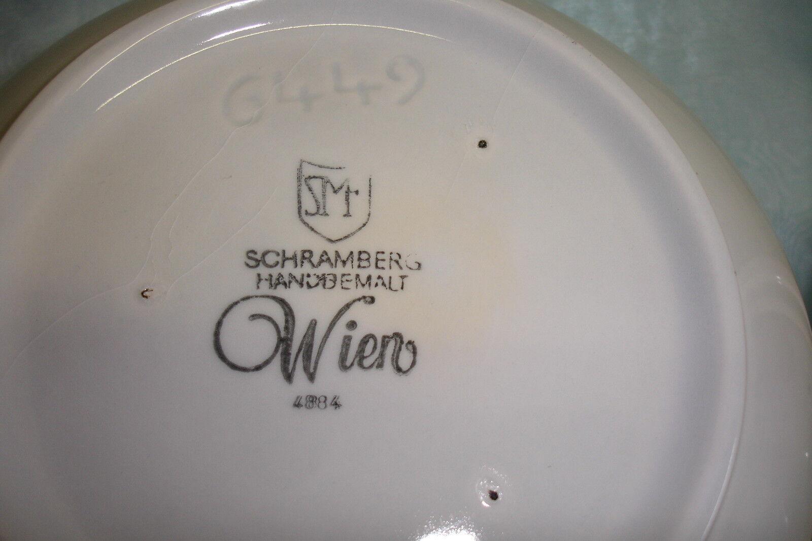 Schramberg  WIEN  handbemalt - Teile zur Auswahl Auswahl Auswahl  | Erste Gruppe von Kunden  fbe6ba