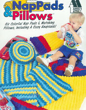 Crochet PATTERNS Annies Attic Baby Toddlers 6 Nap Pads and Pillows