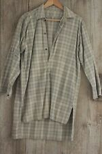 Vintage workwear French men's Shirt  workwear Flannel 1940's 1950's plaid green