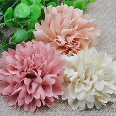 3pcs 75mm Big Ribbon Flowers Bows Rose Wedding Craft Decor Appliques MIX E173