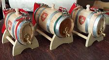 Botte Botti legno cane San Bernardo 0.5 litri rubinetto ottone croce svizzera
