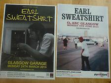 Earl Sweatshirt Scottish tour Glasgow concert gig posters x 2