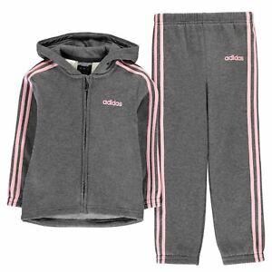 new products coupon codes preview of Détails sur Adidas Enfants Filles 3 S POLYSUIT InG93 Poly Survêtement-  afficher le titre d'origine