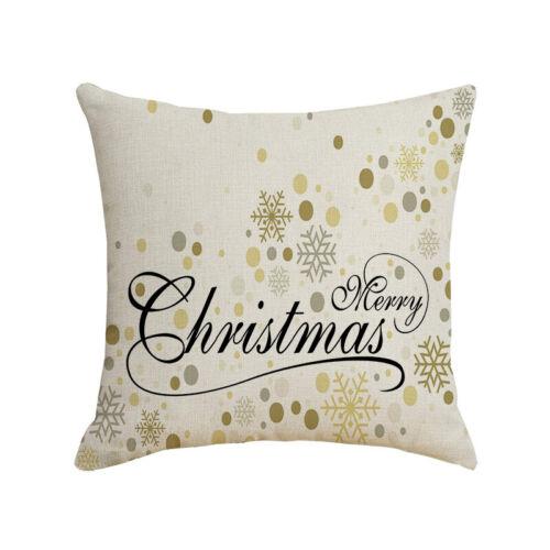 "18/"" Christmas Throw Pillows Cover Sofa Waist Cushion Covers Case Warm Home Decor"