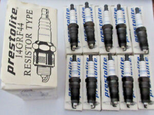 NOS-Set-of-10-pack-Prestolite-14GRF44-Spark-Plugs-Box-of-10-2545-TR5-1-RS14LC