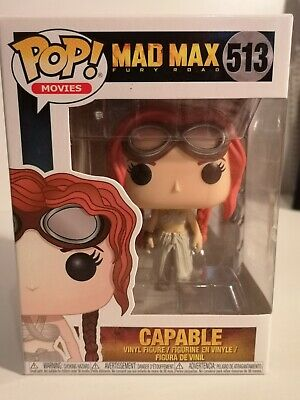 POP FUNKO MOVIES MAD MAX FURY ROAD CAPABLE #513 BOXED FIGURE IN VGC