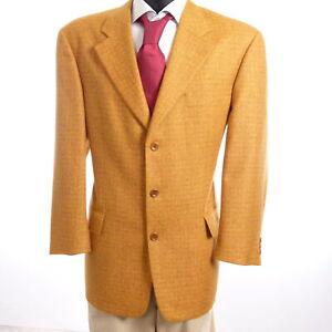 JOOP-Sakko-Jacket-Gr-48-orange-kariert-Einreiher-3-Knopf-S880