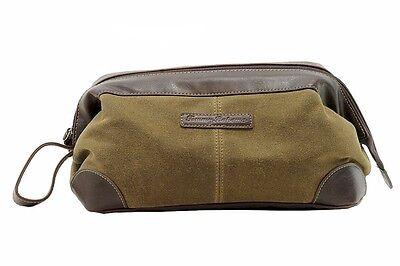 Tommy Bahama Men's Small Dopp Kit Khaki/Brown Toiletry Travel Bag