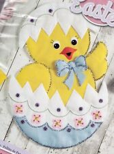 Egg Spring Flowers Bucilla Easter Chick Felt Wall Hanging Kit #86758 New 2017