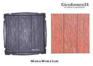 40x40 beton form gie form terrassenplatte gehwegplatte platten holz holzoptik ebay. Black Bedroom Furniture Sets. Home Design Ideas