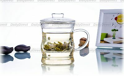 1pc 8.45fl.oz/250ml Bamboo Joint Heat-Resisting Glass Tea Pot Wine Cups&infuser