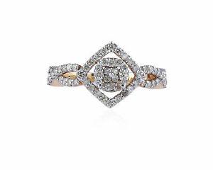 Pave-0-66-Cts-Ronde-Brillante-Couper-Diamants-Anniversaire-Bague-En-750-18K-Or