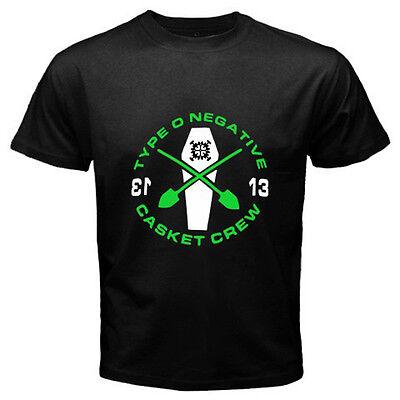New TYPE O NEGATIVE *Casket Crew Rock Band Logo Men's Black T-Shirt Size S-3XL
