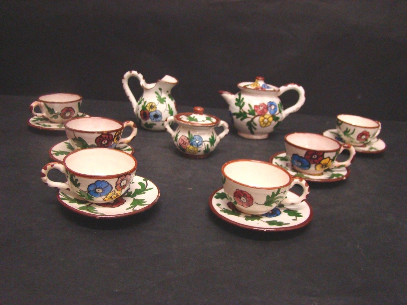 Set Coffee Cups Game in Terracotta Albisola First '900