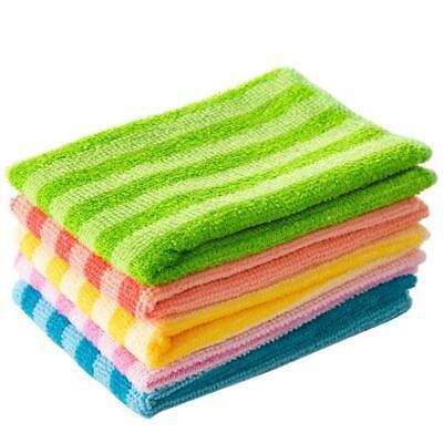 5PCS Super Absorbent Microfiber Kitchen Dish Cloth F1P1 Househo Cleaning W9E5