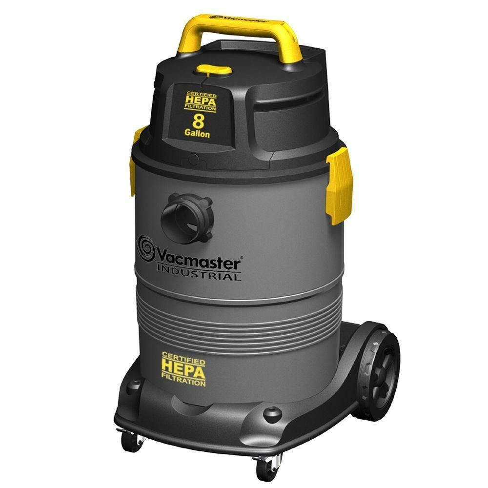 Vacmaster 8 Gal. HEPA Industrial Wet Dry Vac With 2 Stage Motor Cleaning NEW