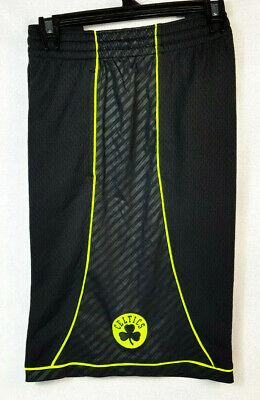 ADIDAS Mens Boston Celtics Basketball Shorts Black & Fluoro Yellow Size XL RARE! | eBay
