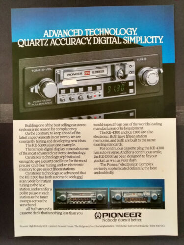KE-5300-1980/'s Magazine Advert #B4312 Car Stereo Pioneer