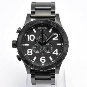 NIXON-Mens-Watch-51-30-Chronograph-All-Black-Steel-A083-001-A083001