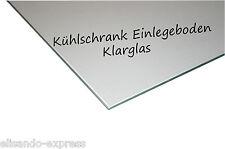 Kühlschrank Einlegeboden - B 53,3 cm x T 33,4 cm - KLARGLAS -  Glasboden Fach