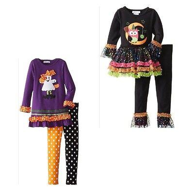 New Girls Rare Editions Halloween Owl Ghost Cat Tunic Leggings Set SZ 18 24 MO