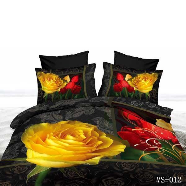 TRUYOO Print 3D Effect Bedding Set Set Set Duvet Cover - 100% Satin Cotton 51b005